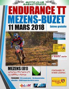 11/03/2018 : Endurance TT à Mezens