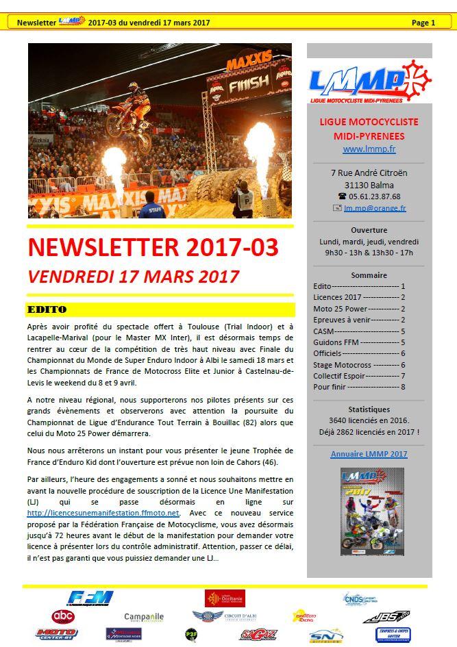 Newsletter LMMP N2017-03