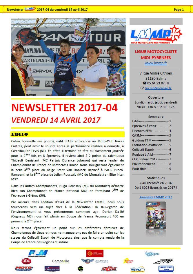 Newsletter LMMP N2017-04