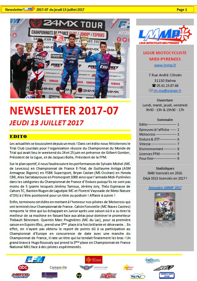 Newsletter N2017-07