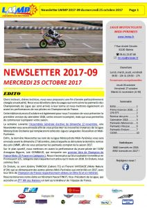 Newsletter LMMP du 25 octobre !