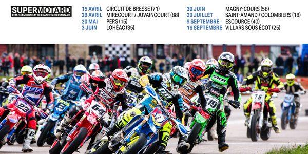 Calendrier du Championnat de France Supermotard 2018