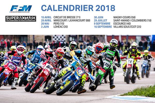 Calendrier du Championnat de France Supermotard 2018   LIGUE