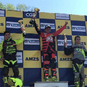 Baptiste BORDES sur le podium en EMX 85cc !