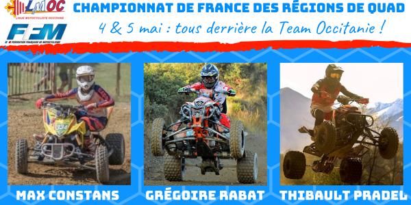 La Team Occitanie pour le Championnat de France des Régions de Quad