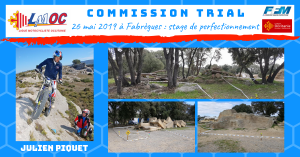 26 mai 2019 à Fabrègues : stage de perfectionnement Trial