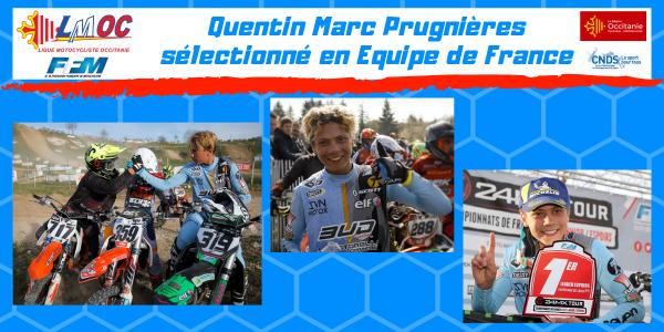 Quentin Marc Prugnières sélectionné en Equipe de France