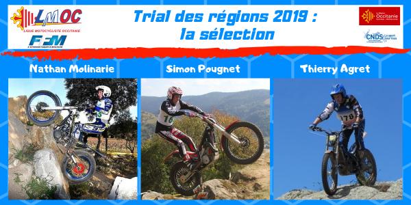 Trial des régions 2019 : la sélection