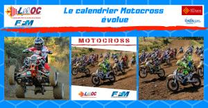 Le calendrier Motocross évolue