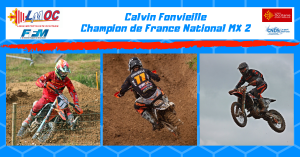 Calvin Fonvieille Champion de France National MX2