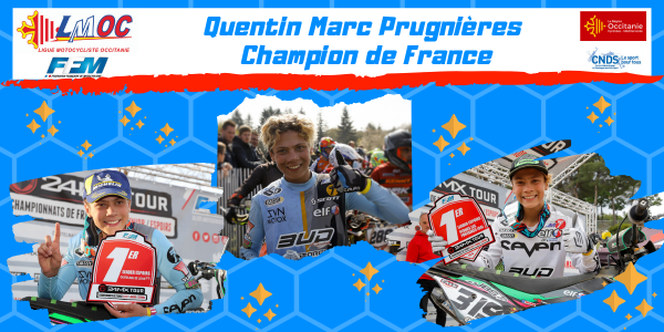 Quentin Marc Prugnières Champion de France