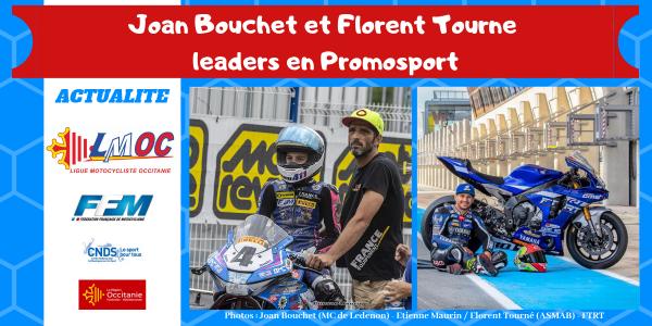 Joan Bouchet et Florent Tourne leaders en Promosport