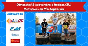 Dimanche 15 septembre à Aspiran (34)