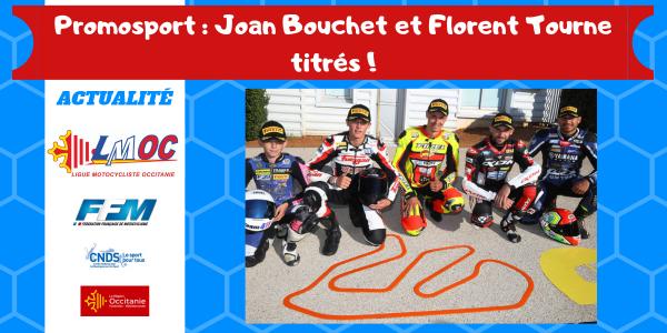 Promosport : Joan Bouchet et Florent Tourne titrés !