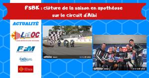 FSBK : clôture de la saison en apothéose sur le circuit d'Albi