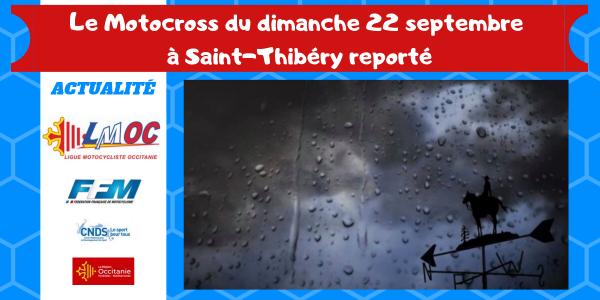 Le Motocross du dimanche 22 septembre à Saint-Thibéry reporté