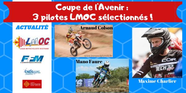 Coupe de l'Avenir : 3 pilotes LMOC sélectionnés !