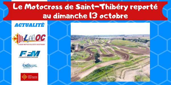 Le Motocross de Saint-Thibéry reporté au dimanche 13 octobre