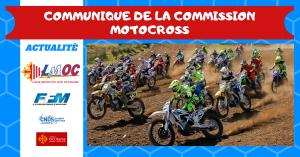 Communiqué de la Commission Motocross