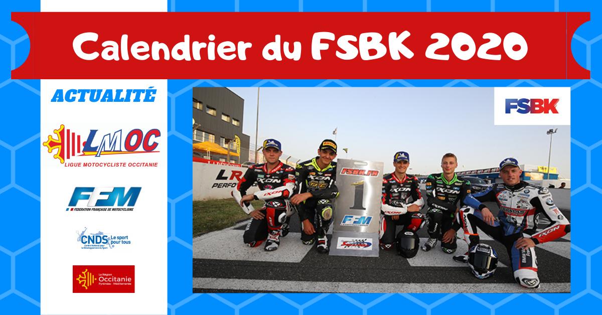 Calendrier Fsbk 2021 Calendrier du FSBK 2020   LIGUE MOTOCYCLISTE OCCITANIE   Site Officiel