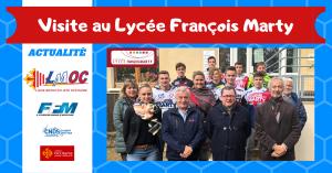 Visite au Lycée François Marty