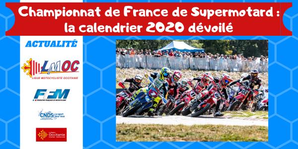 Championnat de France de Supermotard : la calendrier 2020 dévoilé