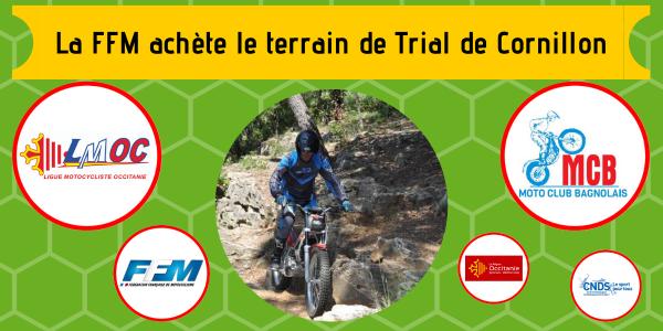 La FFM achète le terrain de Trial de Cornillon