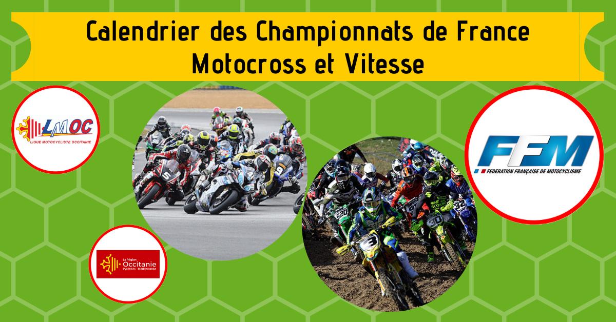 Calendrier Course De Dragster En France 2021 Calendrier des Championnats de France Motocross et Vitesse   LIGUE