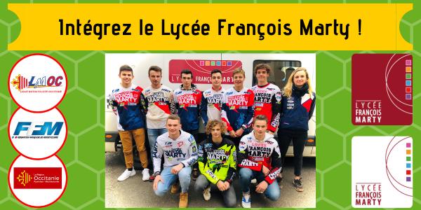 Intégrez le Lycée François Marty !