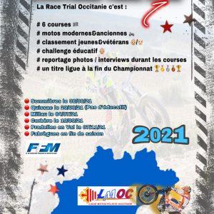 Affiche Championnat Occitanie Trial 2021