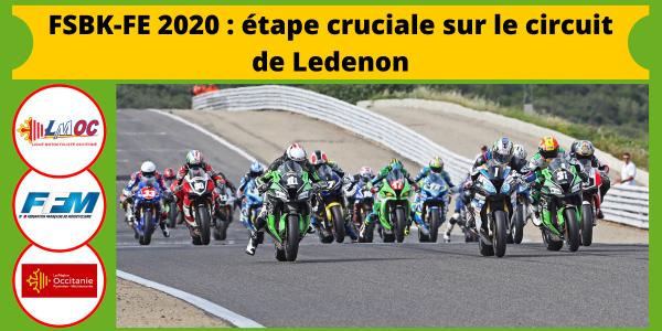 FSBK-FE 2020 : étape cruciale sur le circuit de Ledenon
