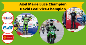 Axel Marie Luce Champion, David Leal Vice-Champion