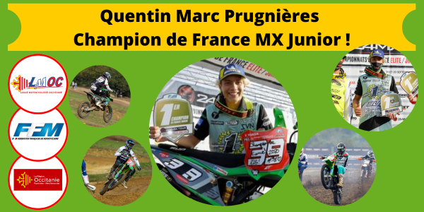 Prugnières Champion de France MX Junior !