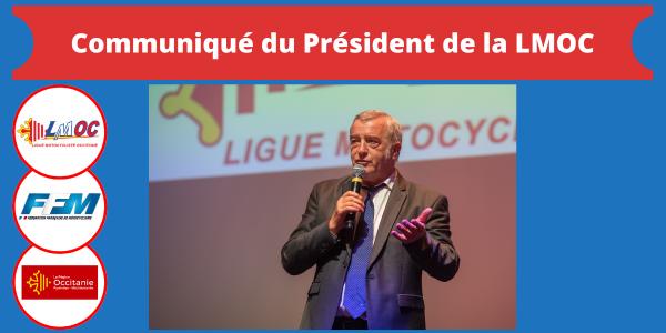 Communiqué du Président de la LMOC