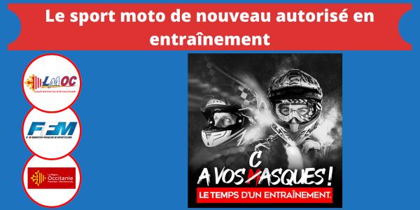 Le sport moto de nouveau autorisé en entraînement