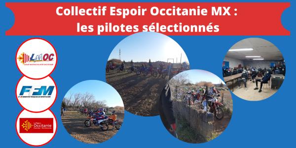 Collectif Espoir Occitanie MX : les pilotes sélectionnés