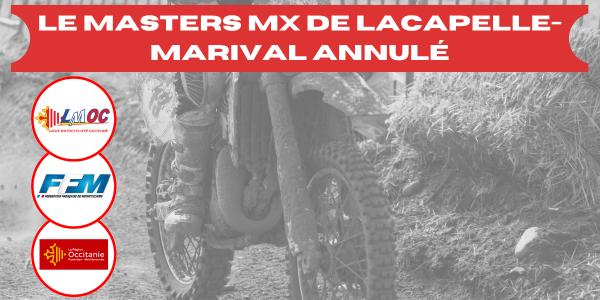 Le Masters MX de Lacapelle-Marival annulé