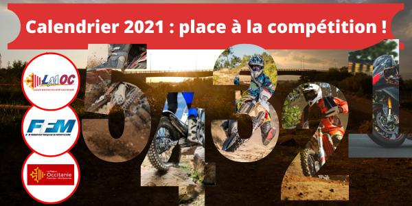 Calendrier 2021 : place à la compétition !
